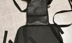 Here is a set of softshell saddlebags in very good used condition. I am certain they will fit both a motorcycle and/or snowmobile but not 100% sure on the snowmobile. I purchased them for a motorcycle and only used them a couple times. They are made of a