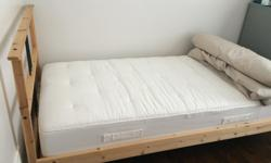 Single Bed set with mattress and dresser