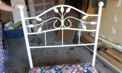 Single Bed for sale in the Barrhaven area. Metal bed rails and white metal headboard. Can be easily assembled