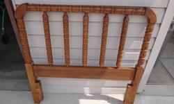 "single maple headboard in good condition W 41 3/4"" T 40 3/4"" Please leave message on answering machine if unavailable to answer phone, (kicks in on 9th ring)"