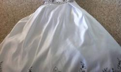 Strapless with black stitching and beading. Please make an offer just want it gone!! This ad was posted with the Kijiji Classifieds app.