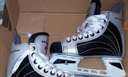 These skates have only used a couple of times for recreational skating. Were not used for hockey.