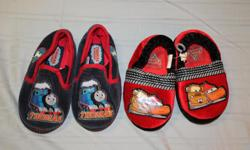 """2 pairs boy's slippers. Good condition. Thomas the Tank Engine and Disney Pixar """"Cars"""". Live near Maitland Ave. and 417 Queensway, and work near Kanata Wave Pool/Kanata Legion."""