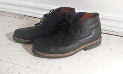 Roots women's chukka/desert boots in black, size 7.5. These are only a couple of years old and have only been worn minimally and are in great condition! I treat them regularly with saddlesoap and mink oil. They are really great comfortable boots and I
