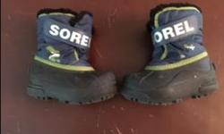 Kid's size 7 Sorel boots. Good condition.