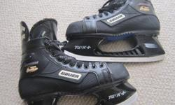 For Sale; Bauer Sup.1000 hockey skates. Great hockey skates,great condition. Size 8.5 adult-stiff boot -lots of blade. $50.