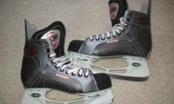 For Sale:Easton `Synergy Comp` skates. E bladeholders -Stiff boot,Lots of blade Like new- Clean-no rips,stains-no odours Great condition..Size 10 Adult... $30..