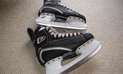 For Sale: 1-Mission `C4` hockey skates. Brand new condition Stiff -Light -boot and lots of blade..Dry Core-openings on skate sole - Size 7E or 41E euro. $40.