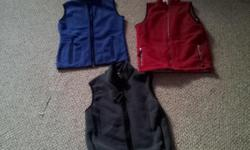 $5.00 ea -The blue vest is from North Fleece; 100% polyester size M -the red vest has a silver lining for extra warmth size M Note: only the red and the blue ones are left Willing to meet you at the corner of Holland and Scott if interested