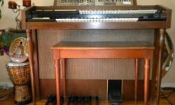 Small Hammond Organ for sale ... ..older late 60's model F114 with bench. Good condition,  (needs a tuneup). asking $65.00 or best offer.