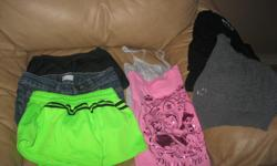 Small lot of GIRLS summer clothes Size Small (7/8) Includes: 1 pair of jean shorts 2 pairs of shorts 1 Disney princess t-shirt 1 grey tank top 1 3/4 length grey sweater 1 black top Get ALL for ONLY $15 (works out to be $2.14 per item) AWESOME PRICE Can