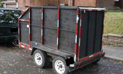 Tandem Utility Trailer.   Great utility trailer.  Was previously used as a pony trailer by a vet.  Steel bottom with a ramp/gate which drops down.  I have the jack for it but it needs to be welded on.  I bought it for $1500.00 will let it go for $800.00.