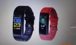 Red bracelet, brand new, original box and User Manual. Tracks your heart rate, calories, steps and much, much more. Water resistant to 1m (great for aqua fit classes), prompts you to get up and walk at regular intervals, etc.