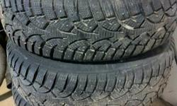 Hi I have 4 winter challenger snow tires on steel rims. They have 90% tread left on them, they were only used a short time last winter on my old car. They do not fit on my new car. Asking 250.00 0r best offer
