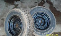 pair of mismatched snowtires on 15inch gmc 5 bolt rims. One is wintertrax 225 75r15 and the other is a yokohama 235 70r15 both have lots of tread asking $ 65.00 for the pair. 5192298749 st marys, john