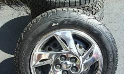 Set of four 195/65R15 Firestone Winterforce snow tires on 5-bolt (5X100) steel rims (I have a list of compatible vehicles). Also comes with really nice, chrome, bolt-on wheel covers. (Covers alone worth over $750 new!). Tires are in great shape with