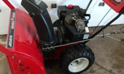 For sale Mastercraft snow blower.10hp 28in electric start works good asking 325 obo