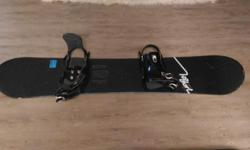 158cm K2 snowboard. Includes black Morrow size 9-14 bindings. Usual wear and tear - make an offer!