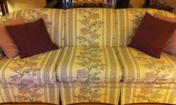 New Price!This set is in excellent condition. The sofa and chair is by Sklar Peppler. I also have a custom made valance that matches this set, it is dusty rose and lined and in great shape,will need to be steamed to remove some wrinkles.The velcro rods it