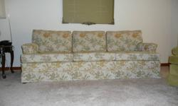 Matching sofa & chair --  vintage 1980s -- but seldom used & in excellent condition.    $ 110.00.  Located in north Chatham.   519-354-9254