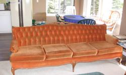 French Provincial chesterfield & chair set. Sturdy and in good condition. See photos.