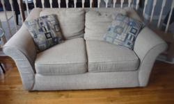 Sofa with Chaise Lounge and Loveseat Biege, good condition