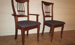6 dining room chairs (2 captains and 4 regular) - Top quality - 100% maple hardwood - manufactured by Roxton - mint condition Retail: $1350, asking $495