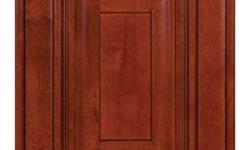 Cherry Glaze Cabinets - Ready to Assemble    $3,150.70 10' x 10' Standard Kitchen   - Doors, face frames, and drawers are solid maple - Half overlay doors and drawers - Furniture grade maple plywood boxes and shelves - Full extension soft close glides and