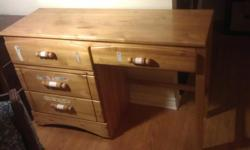 """Great as a student or office desk. Measures 4' x 17"""" x 32"""". Pickup in kanata. Some stickers on drawers. Don't forget to view my other postings."""