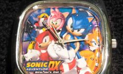 Sonic The Hedgehog - Sonic Adventure DX Director?s Cut watch. Black leather strap, analog hands. Great shape, new battery, barely used. [reference#11047]