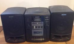 Used boombox, plays cassettes, CDs and radio. Price above or best offer.