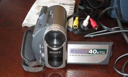 Hello,  I have a Sony - DCR-HC38 MiniDV Handycam® (camcorder). It comes with carrying case and cable to transfer to computer. All bought separately. Only used once, for our wedding and we no longer use it. I'm asking 200$ OBO. E-mail for more information.