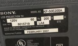 Sony model #KF-50E200A