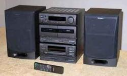 Sony Mini Hi-Fi System 5CD & 2BL Cassette Stereo - $225 ((Yonge & College )) Sony MHC-C70 Stereo Micro AM-FM Audio/ 2 DBLE Cassette/ 5 CD Executive Mini HI-Fi Sysytem AM-FM Tuner with Video/ Tape/ MD-Dat/ CD/ Tuner selections Dolby Auto Reverse Rec/ Play