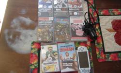 Sony PSP with charger & 1 GIG memory. Comes with 2 movies, American wedding and You don't mess with the ZOHAN. Games are NBA live 07,NHL 07, Tiger Woods 07, Madden 09, Star wars battlefront, and MX vs ATV  Ask for Eric 705-749-9801,  $100 .