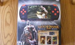 Selling a PSP bundle in just like new condition, including:  Limited Edition God of War console with original box and all original contents (please see pictures).   Also included are the following games:  Syphon Filter Dark Mirror, Socom U.S. Navy Seals