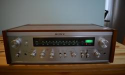 Cosmetically looks near mint, like new BEAUTIFUL SOUND WITH GREAT SOUNDSTAGE, DEFINITION Some on audiokarma compare these Sony Machines to the Legendary and much more expensive Mcintosh gear from the same era. LOOKS, WORKS AND SOUNDS JUST LIKE NEW SUPER