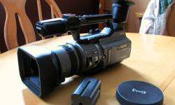 It's a Sony Handycam model DCR-VX2100, the whole camera is in very good condition, but there is one major issue. The Camera does not play back or record, it turns on, and it produces an image, but doesn't record. SO, I am selling this camera because, I am