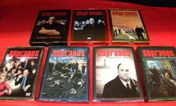 Sopranos complete series seasons 1 to 6, item #138170-20. This set is in exceptional condition. Price of $105 includes all taxes. PLEASE REFER TO INVENTORY #138170-20 WHEN INQUIRING. We also have more items for sale at The Bay Street Broker located on the