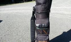 A complete set of Spalding golf clubs with bag. Great starter kit. Only used two times. Mint condition. Right hand.