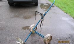 Spalding metal golf cart in good condition.