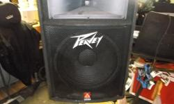one peavey tls 5, 15inch speaker, 100.00 one peavey tsl 2, 12 inch speaker, 80.00 both in very good condition