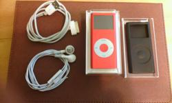 Selling a special edition (product red) ipod nano. Its 2nd generation 4 gb in size. Ive been using  it in a case since i got it so its in mint condition. Comes in original case, earphones and the protective case. can meet in a subway station.