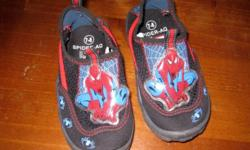 These shoes are in like-new condition.  Size 7-8 Toddler, but do run a little big.