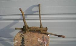 Antique split rim jack, rare, found when cleaning up Great Grandfather's old barn. Have only seen one at an antique dealer, priced at $ 340.00. Hawk model C118, Made in Canada.