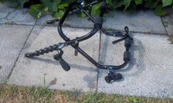 SportsRack 3-bike bicycle racks for sale. 4 anchor straps $45 good for cars We are located in Orleans. See our list of other items for sale. First come, first served.