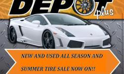 WE HAVE THE LARGEST SELECTIONS OF NEW AND USED ALL SEASON/SUMMER TIRES IN STOCK IN THE CITY. LET THE TEAM @ WHEELDEPOT TAKE CARE OF ALL YOUR AUTOMOTIVE NEEDS WITH THE MOST COMPETITIVE PRICES AROUND. SETS OF 4 USED WILL START AS LOW AS $180.00 AND ALL