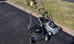 VERY LIGHT , EASY TO PUSH WORK GREAT EXCELLENT FOR SMALL YARD TAKE THEM BOTH FOR $55