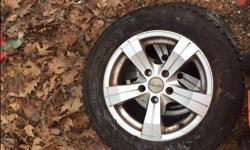 spyn wheels with winter tires for sale. Bolt pattern is 5x112. Tires have lots of life left on them just the tires are worth 200. selling with wheels cheap as I do not need them anymore.