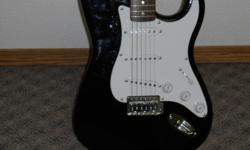 i have a squire fender electric guitar for sale .it is in very good condition except for a few minor scratches .i would like to get 150 dollars for it or just throw me an offer .thanks